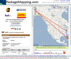 Screenshot of PackageMapping.com courtesy of ProgrammableWeb. Click to visit PackageMapping