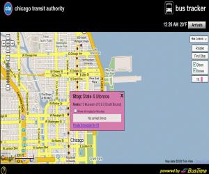Chicago Transit Authority Live Bus Map