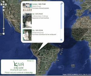Kiva World Map