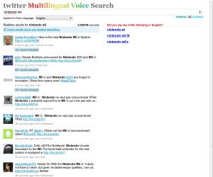 Twitter Multilingual Voice Search
