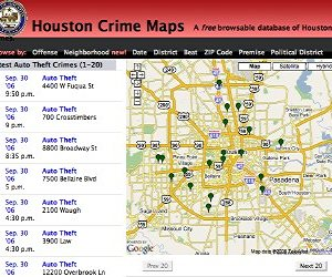 Houston Crime Maps  ProgrammableWeb