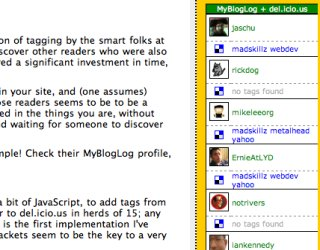 Adding Tags to MyBlogLog