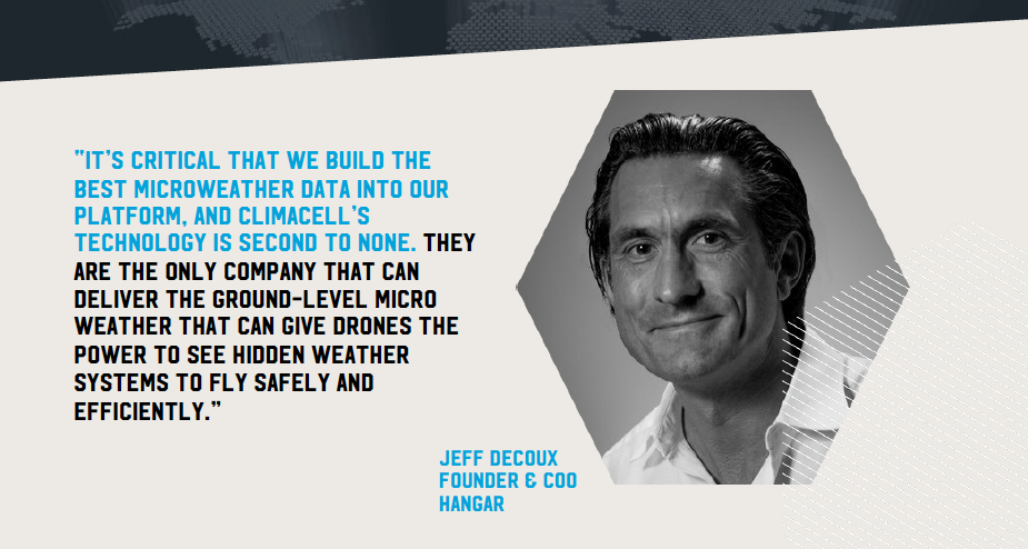 Quote by Jeff Decoux, Founder and CEO, Hangar