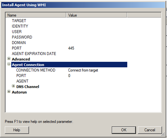 screenshot: WMI Agent