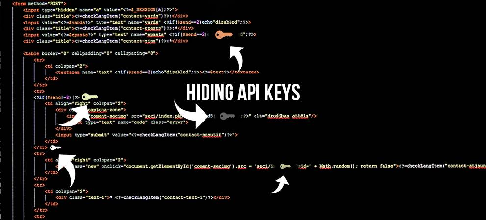 How To Hide API Keys in HTML5 Storage For Public Code Samples