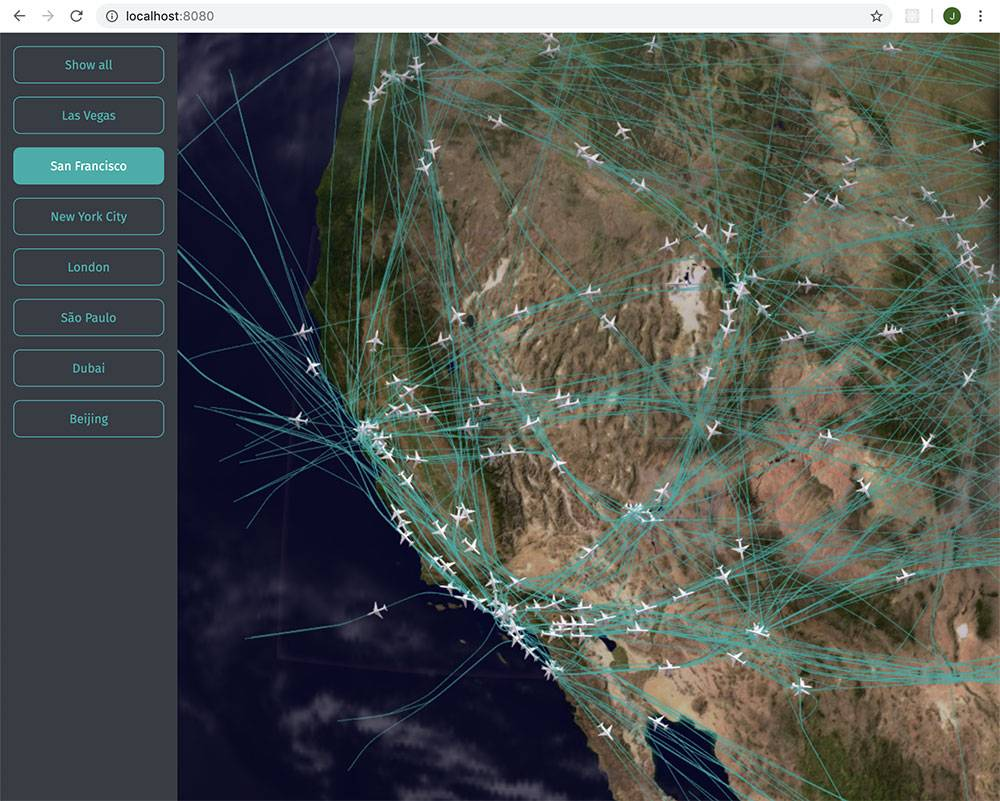 How to Transform an Air Traffic API to GeoJSON to Render on