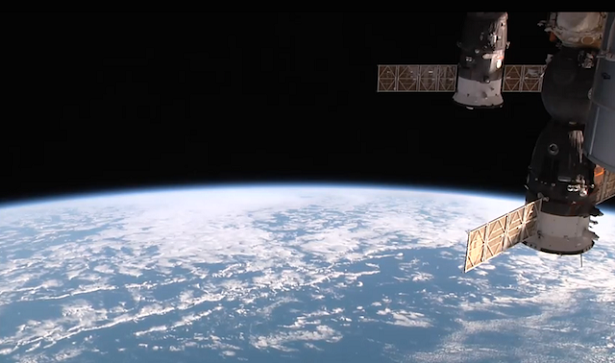 Urthecast live video screenshot from the ISS