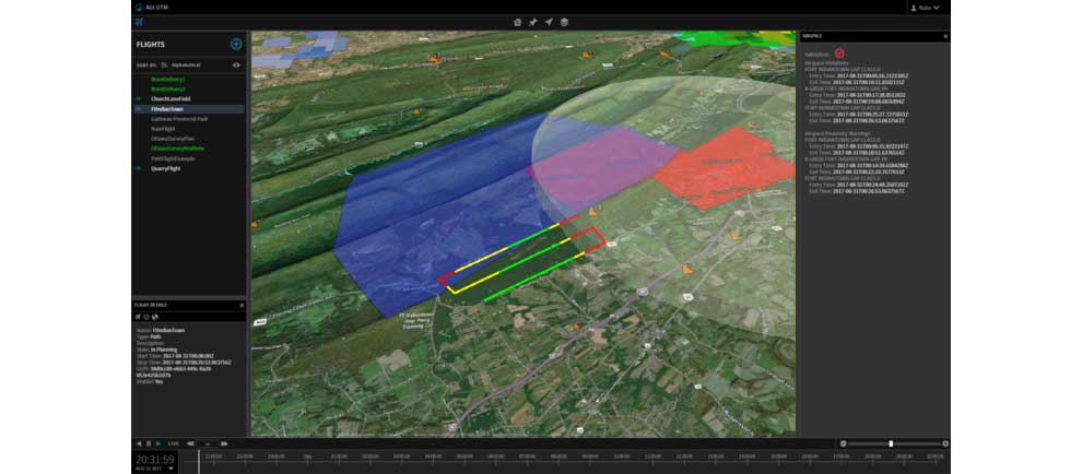 OneSky API features path flight airspace modeling capabilites