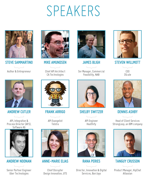 Speakers for APIdays Australia