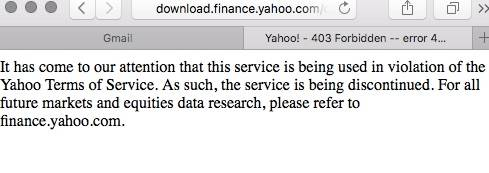 Oh, About that API that Yahoo! Killed Without Warning