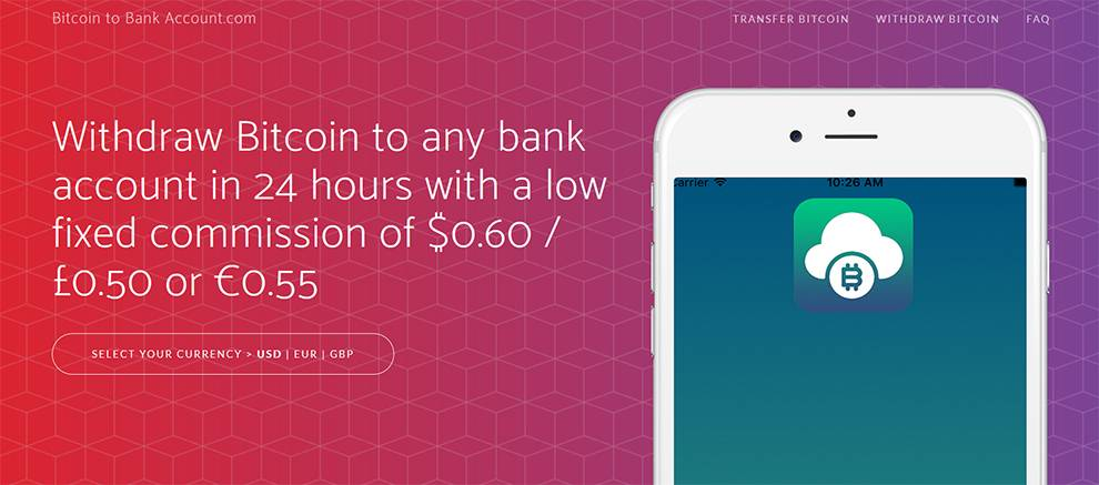 Bitcoin To Bank Account API uses Stripe to handle bank transfers