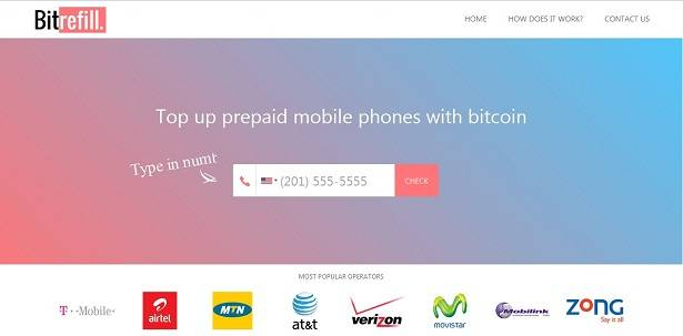 Use bitcoins to top up prepaid phones with Bitrefill API
