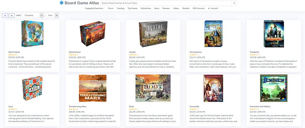 Get data about thousands of board games with this API