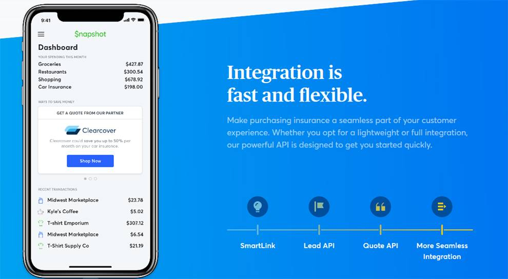 Clearcover API enables customers to buy insurance