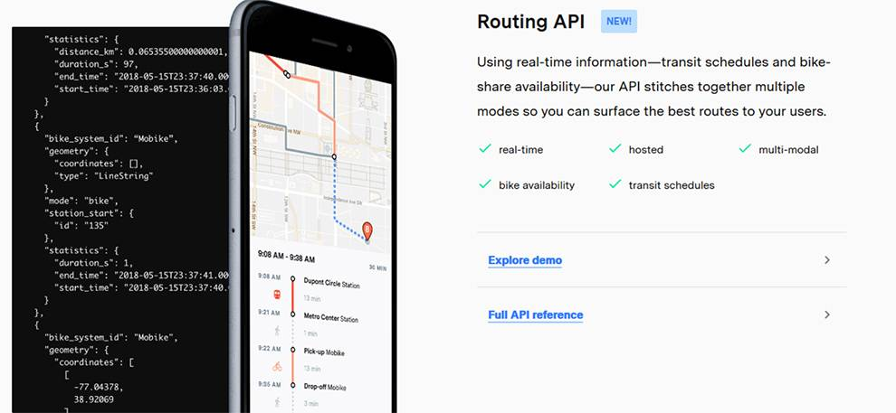 The Routing API is the latest transportion tool from Coord