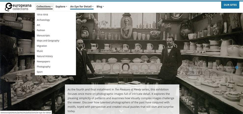 API allows programmatic access of millions of artefacts, such as photos in the 'An Eye for Detail' collection