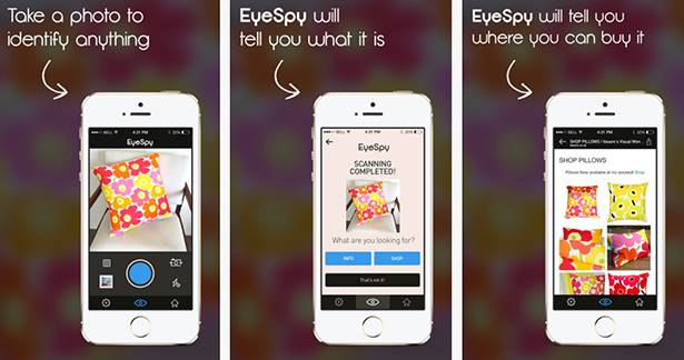 EyeSpy iOS application screenshots