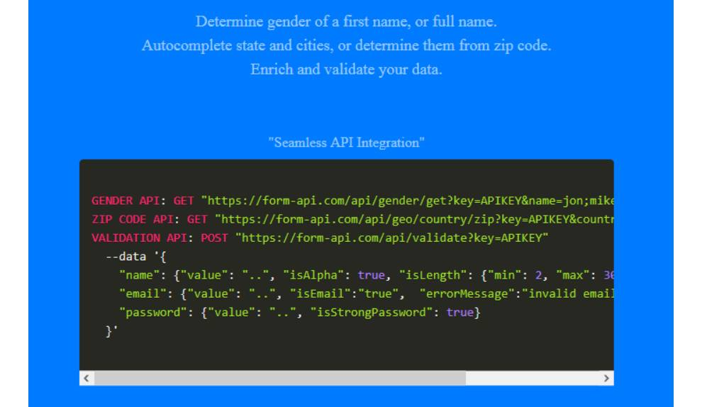 Form-API provides seamless integration for adding forms to applications