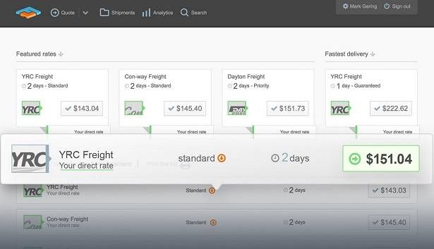 Integrate Freightview API to find the best freight carrier rates