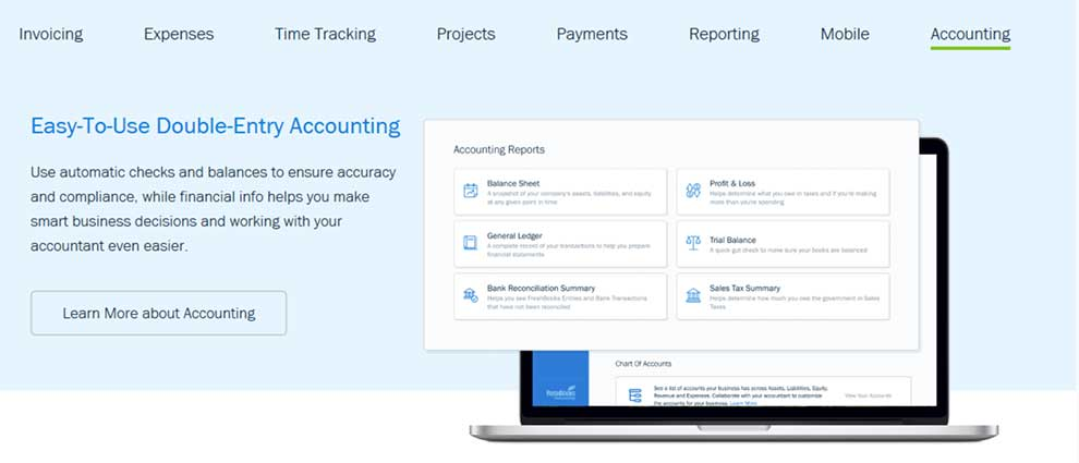 Connect with small business accounting services via FreshBooks API