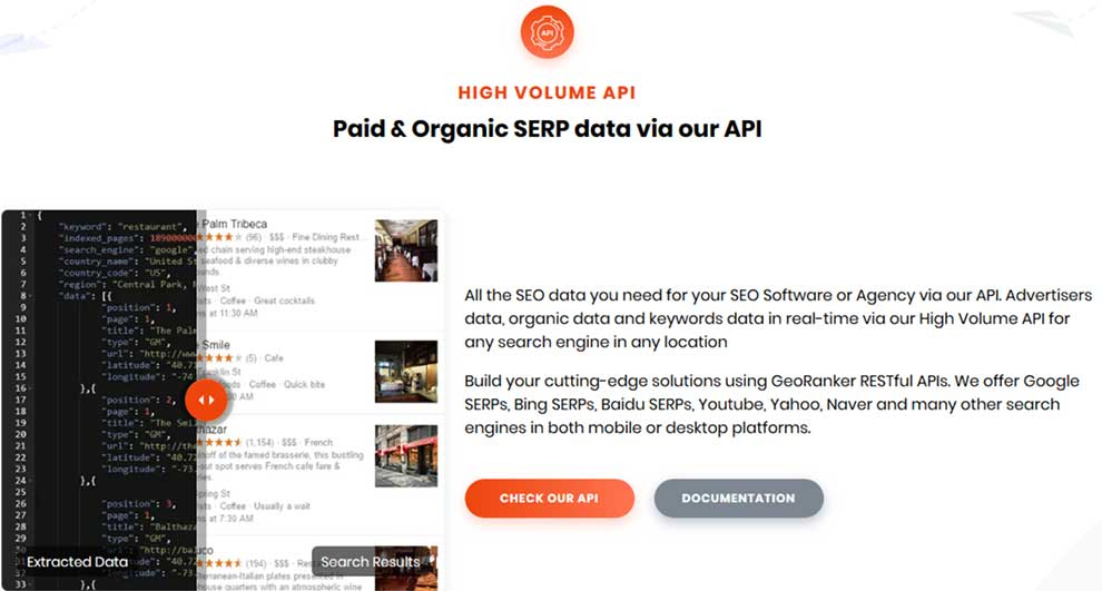 Track any search engine and keyword rankings in any location with this API