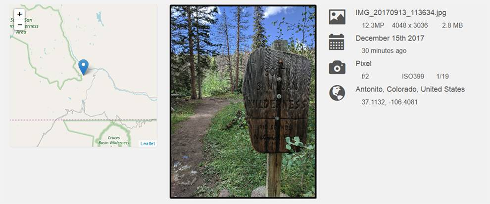 Get data about photo locations and cameras used with this API