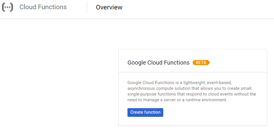 Cloud Cloud Functions functionality overview