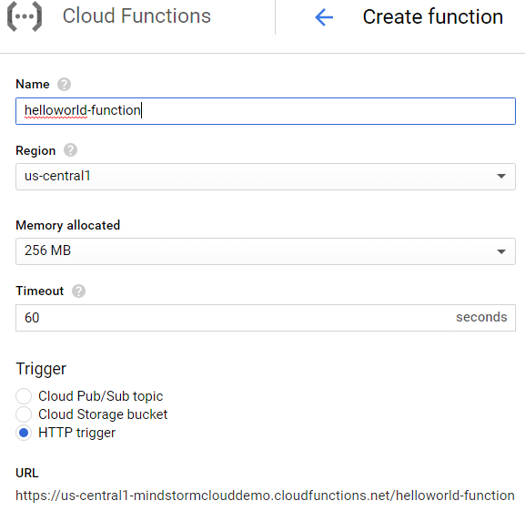 Cloud Functions name and format