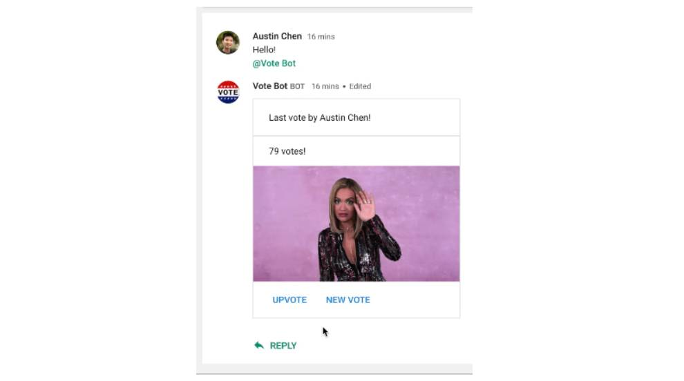 Developers can now create interactive chat cards with the Google Hangouts Chat API