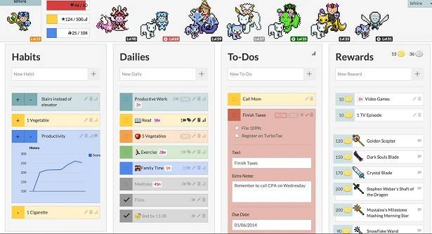 Gamify tasks with Habitica, integrate via API