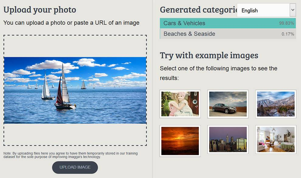 Automatically tag and categorize images with Imagga APIs.