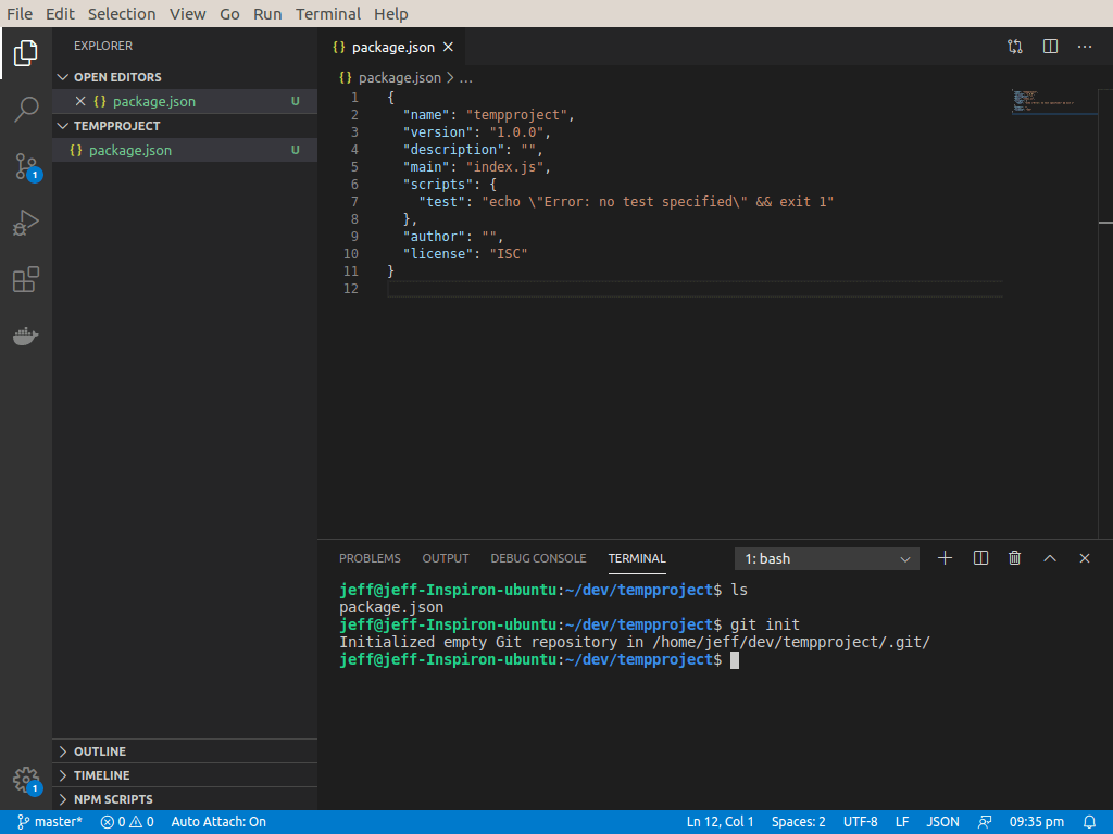 Visual Studio Code includes an integrated terminal, allowing you to run shell commands right from within VS Code