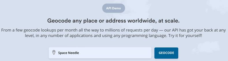 Request geocoding for any worldwide location using the API Demo form at positionstack.com
