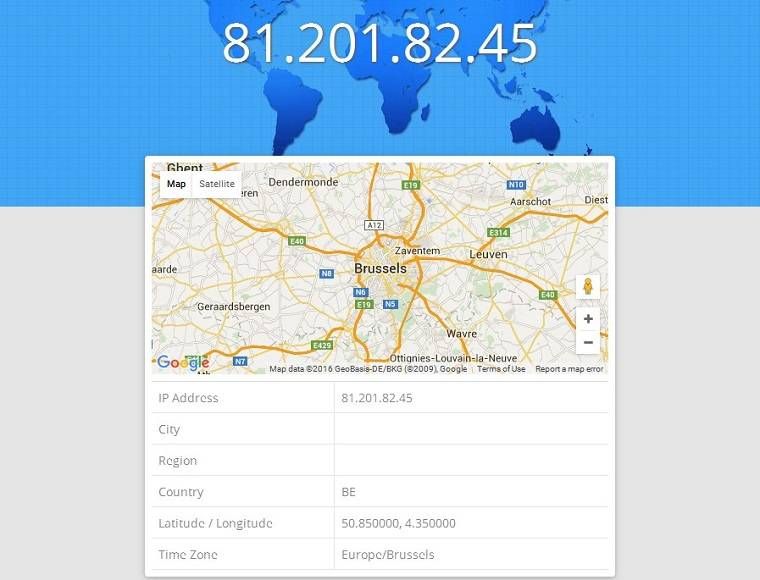 ipapi is an API that maps IP address locations