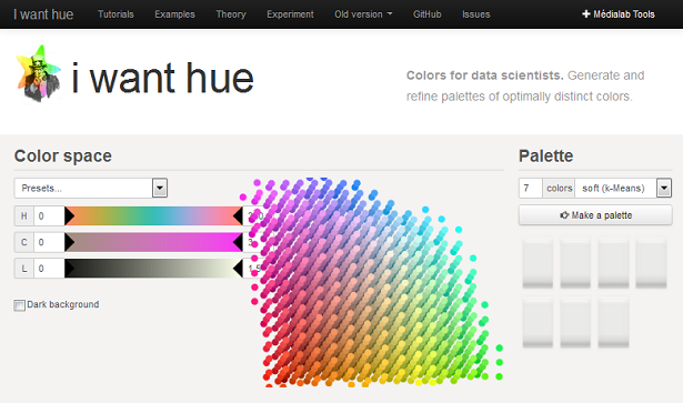 IWantHue color tool for data scientists