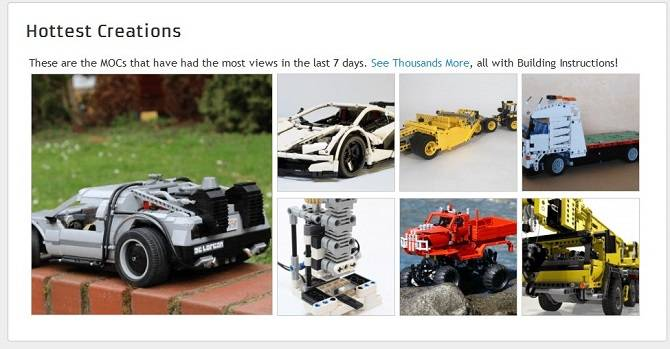 Rebrickable LEGO service has an API