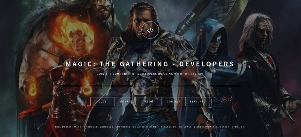 The Magic: The Gathering developer center includes several SDKs to ease consumption of the API