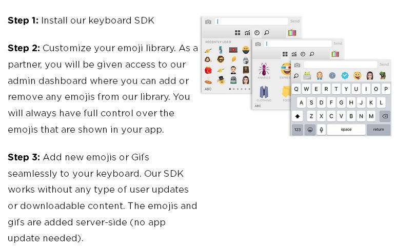 Emoji keyboard creation tool Makemoji has an API