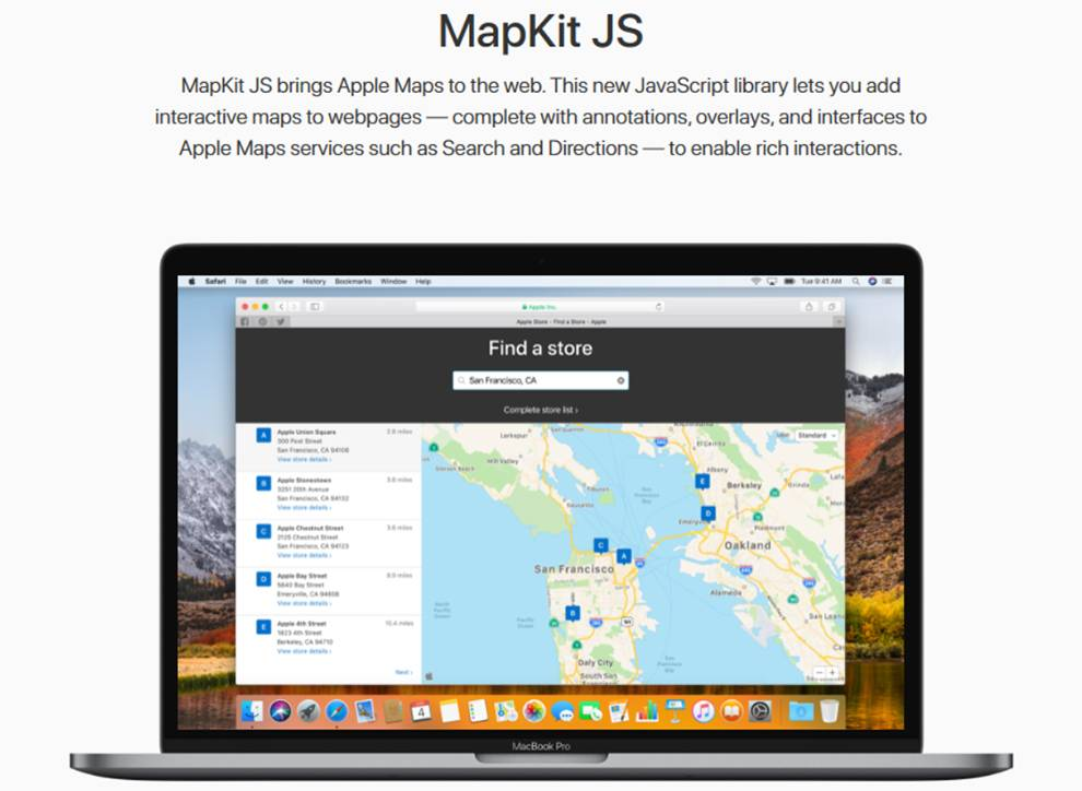 Add Maps functionality to websites via Apple MapKit JS