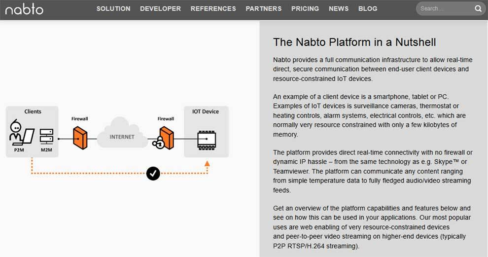 Remotely control IoT devices in apps with Nabto