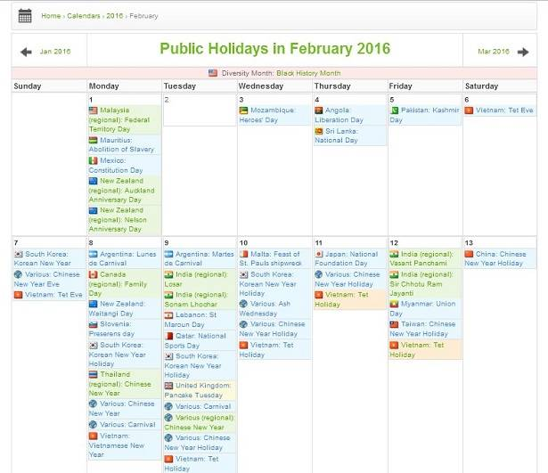 Get access to international holiday data from Office Holidays calenar via this API