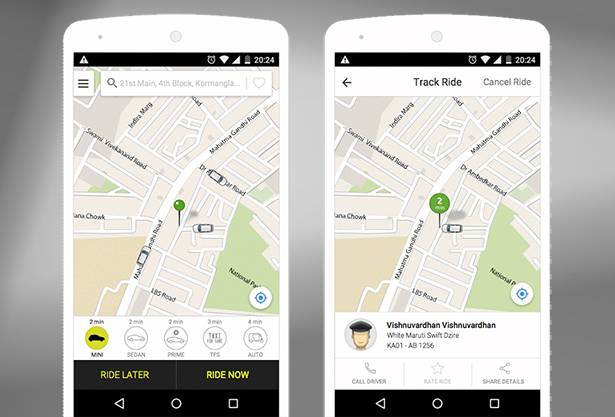 India's Ola Cabs provides APIs for integration