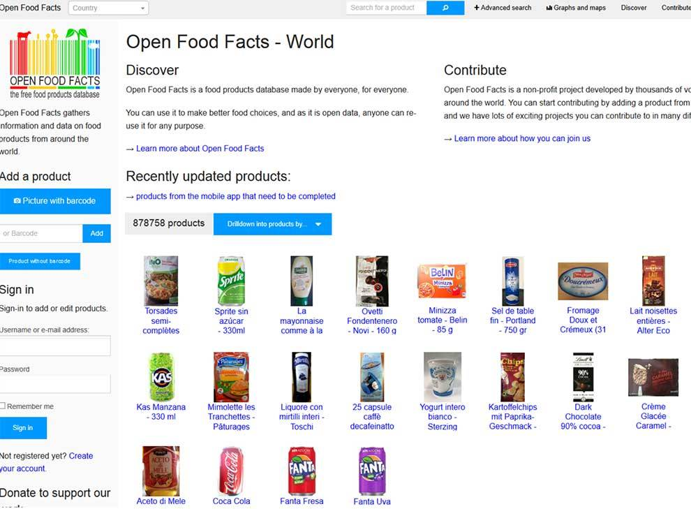 Open Food Facts API