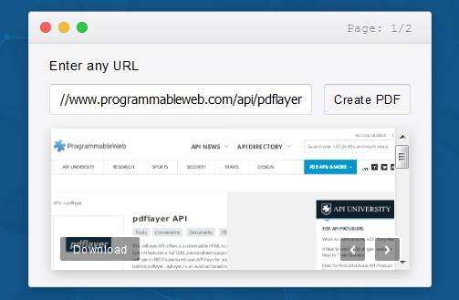 pdflayer API creates PDFs from any website URL