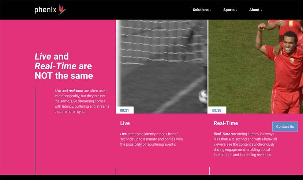 Phenix real-time streaming technology drives engagement and live sports betting