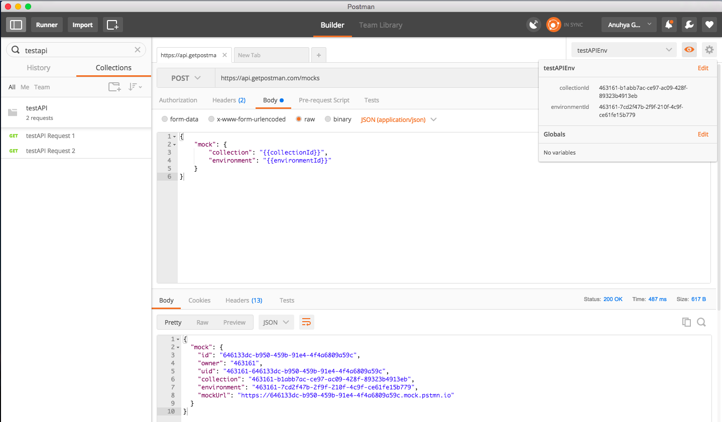 Simulate APIs and Backend Server with New Postman Mock Server