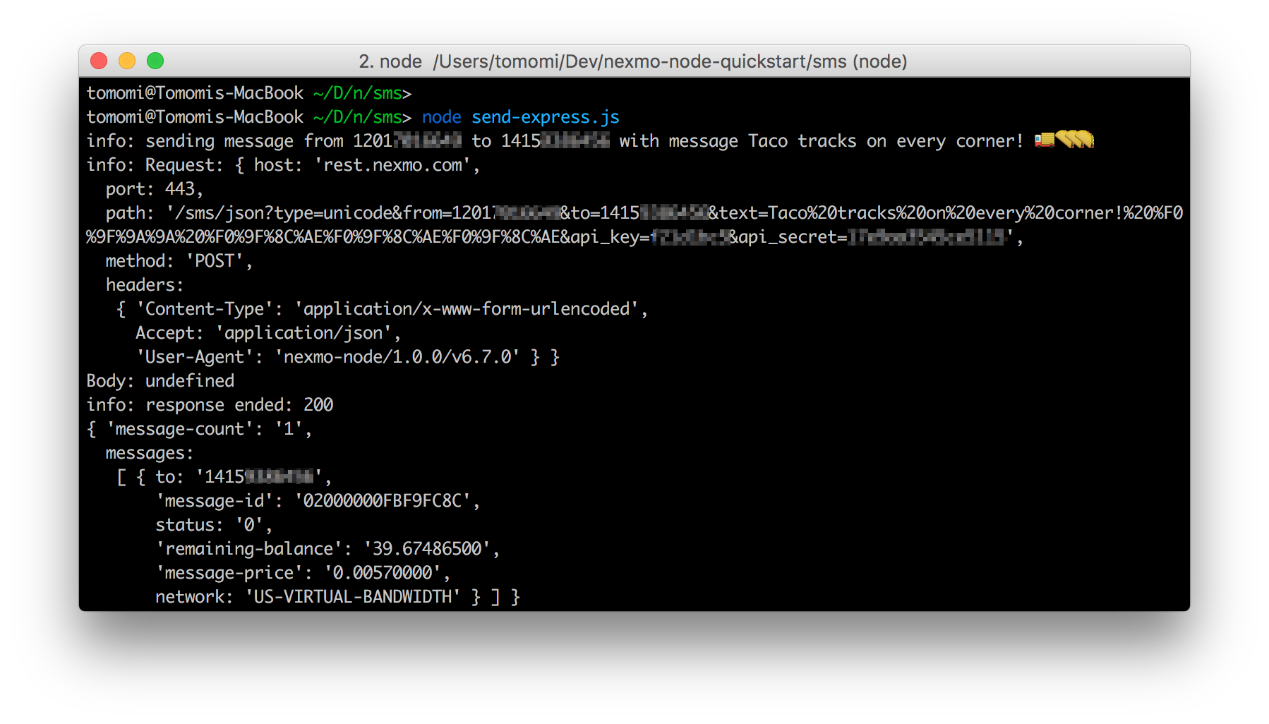 How to Add SMS to Your Node js Apps with Express