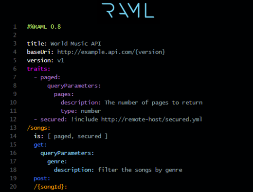 Ca api developer portal now features raml and soap support restful api modeling language raml is a method and specification for describing practically restful apis malvernweather Gallery