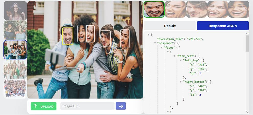 Reconess API returns facial recognition information from images and videos