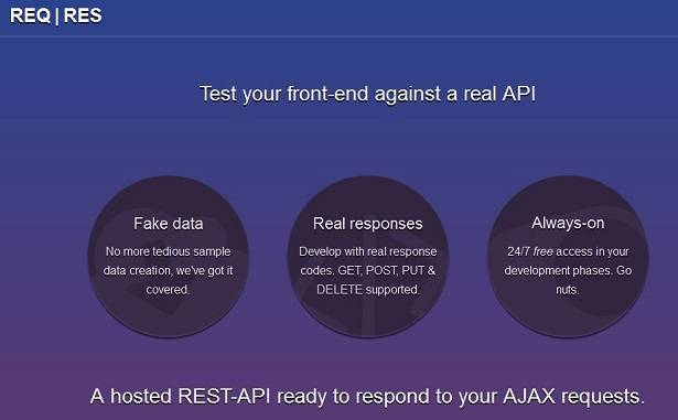 Test apps against a real API with ReqRes